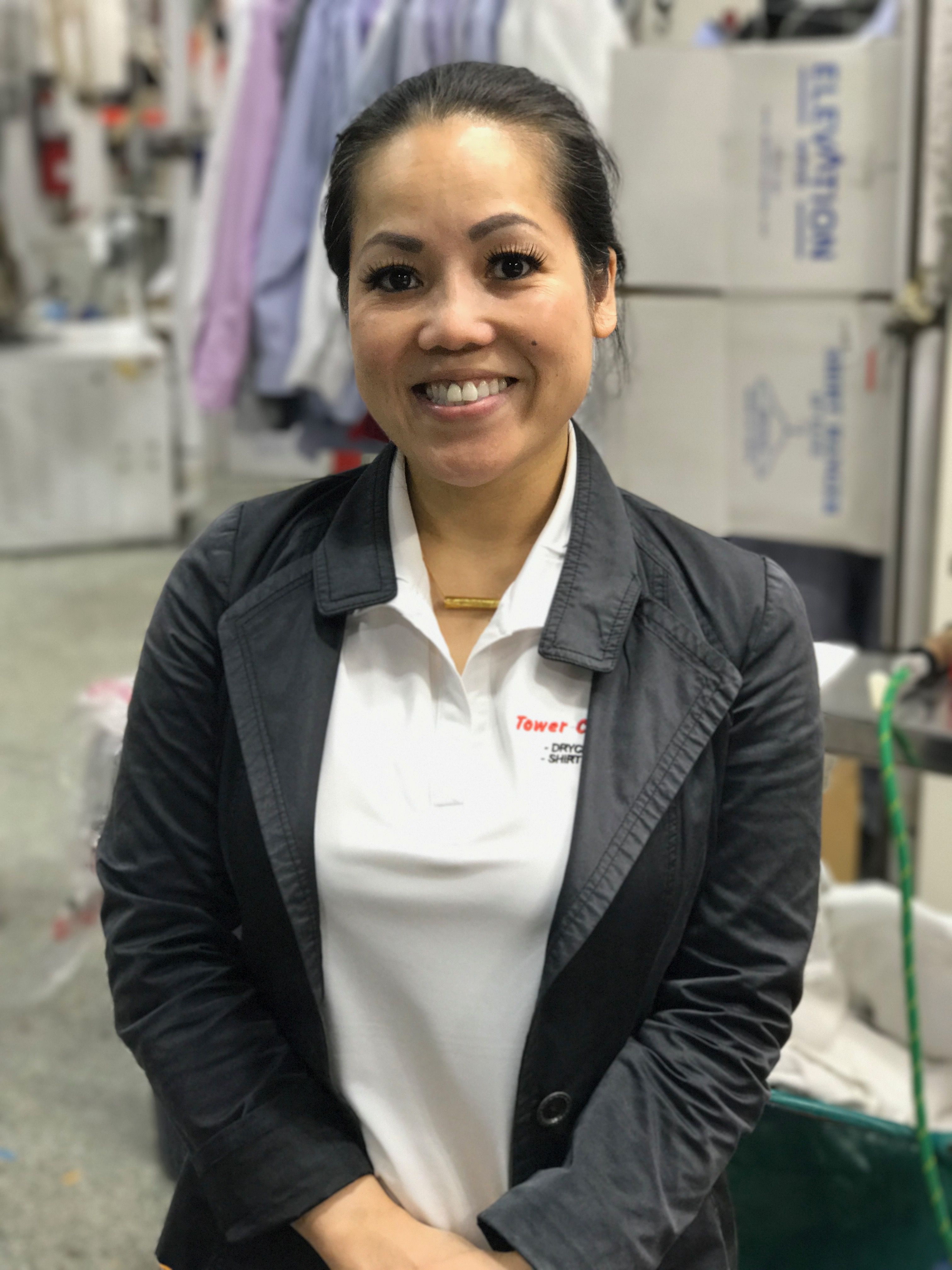 Nicky Pathammawong, Day Production Manager at Tower Cleaners