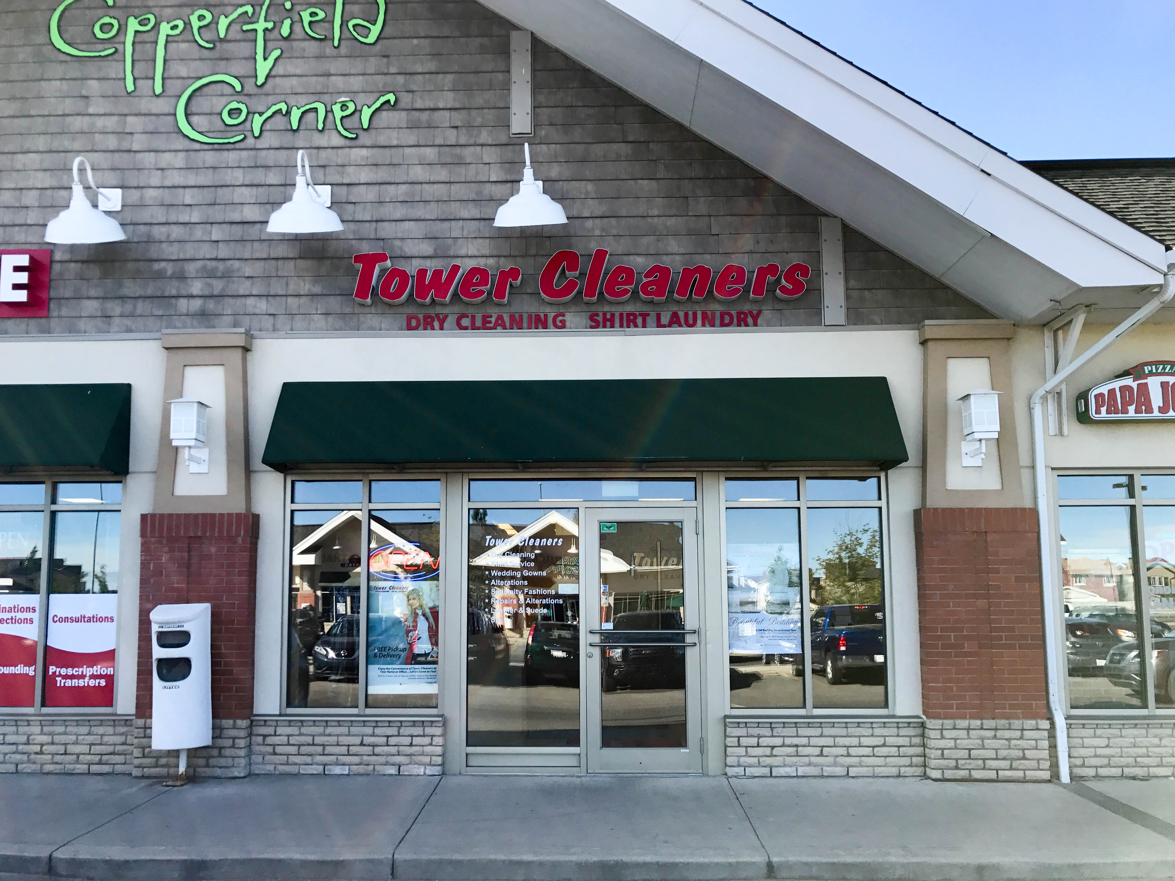 Copperfield Tower Cleaners store. #238 - 15566 McIvor Blvd SE, Calgary, Alberta, (403) 257-1743