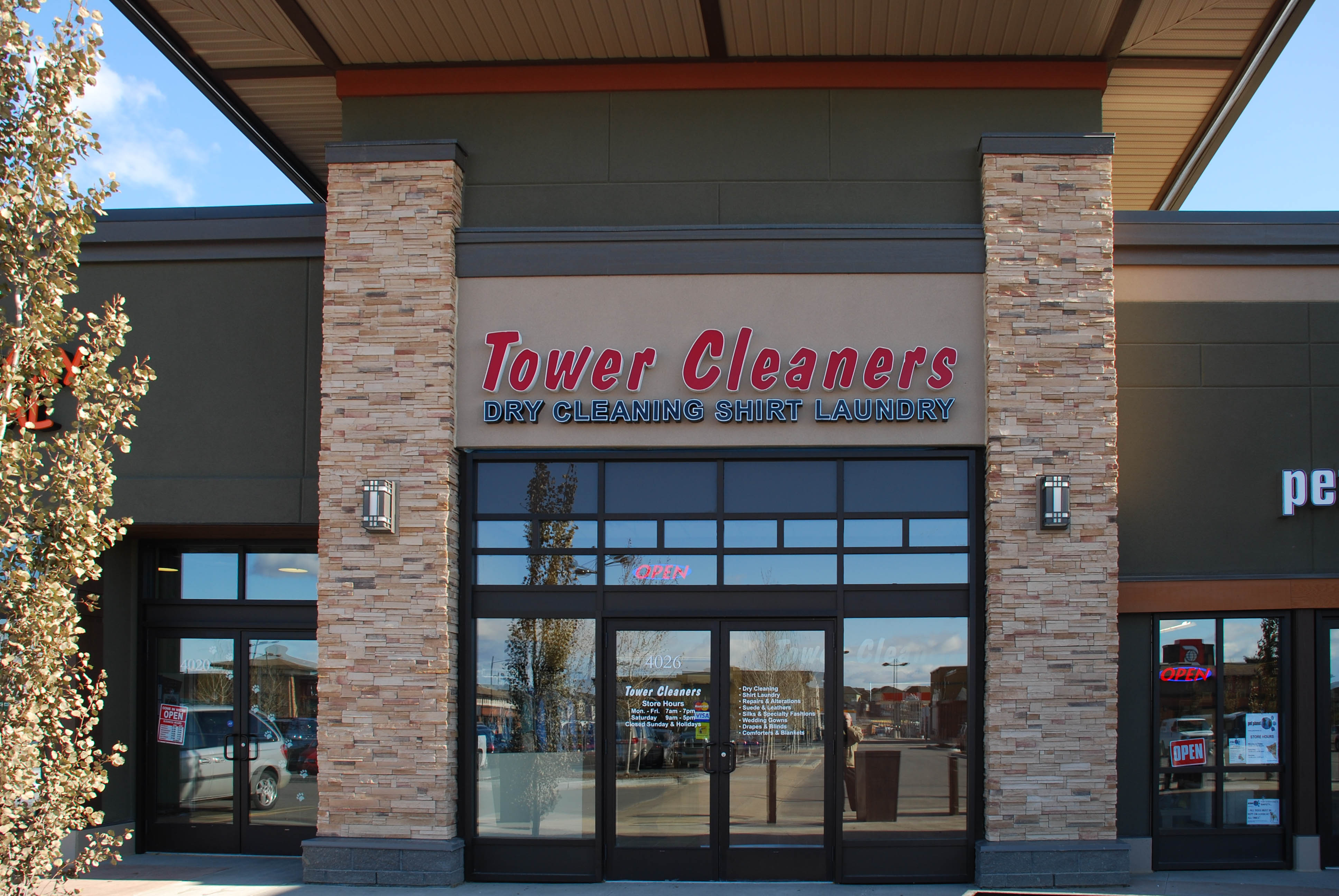 Cranston Tower Cleaners store. #4026 - 356 Cranston Rd SE, Calgary, Alberta, (403) 720-4007
