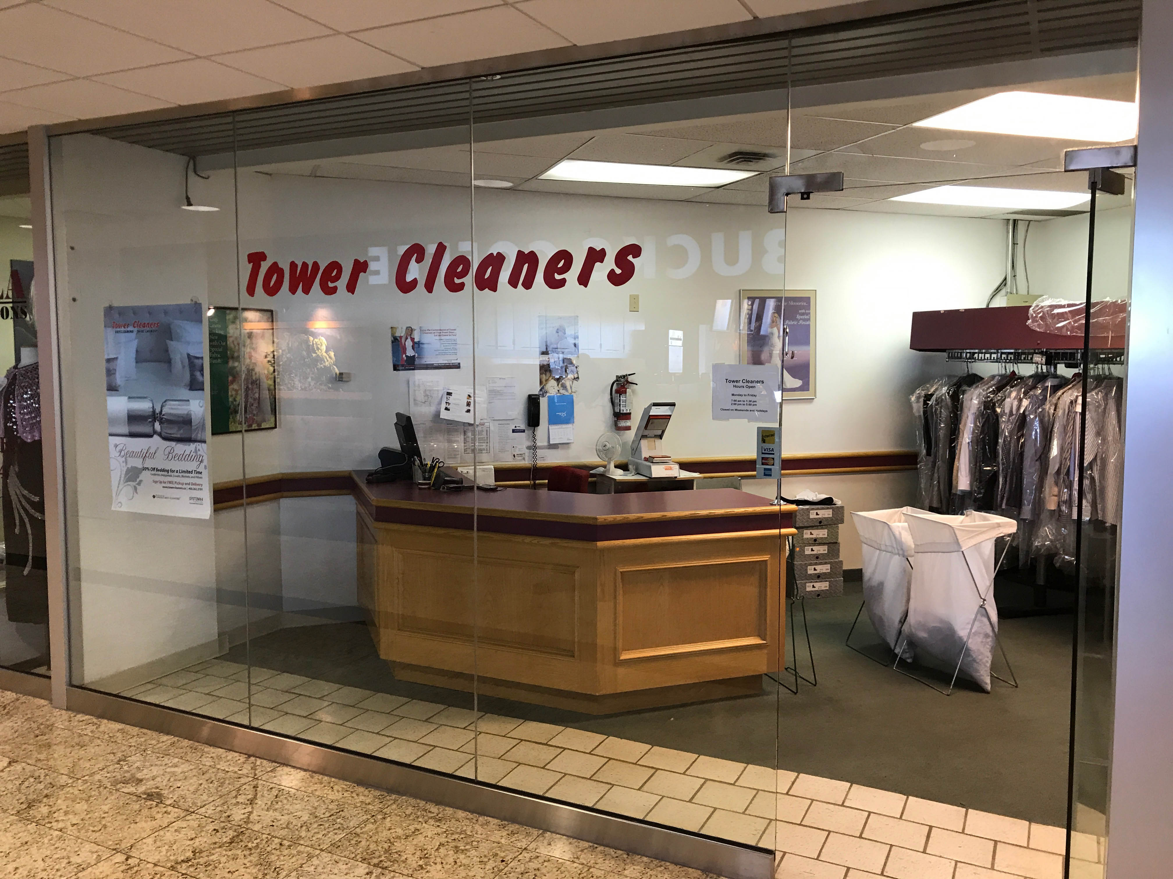Intact Place Tower Cleaners store. #200, 321 - 6 Ave SW, Calgary, Alberta, (403) 269-2433